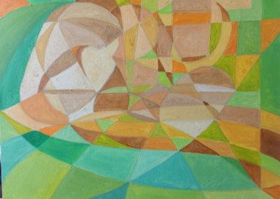 ALESSANDRO PENSIEROSO, 40x40 pittura ad olio su tela 2016