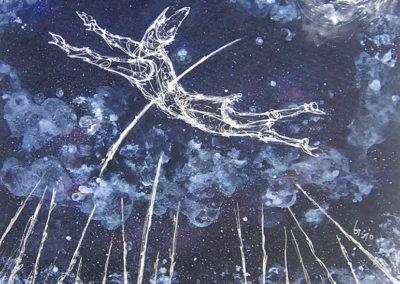 ARROW | Acrilici saponati su tela – 70 x70