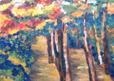 AUTUNNO 70x50 pittura ad olio su tela 2017