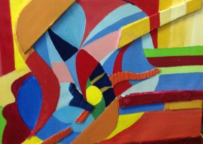 """CAMILLA E IL GATTO """"NISSA"""", 40x50 pittura ad olio su tela, tecnica mista 2017"""
