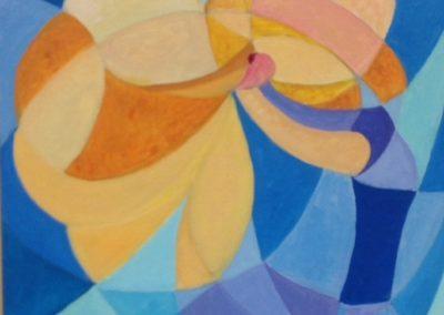 CAMILLA E TARA, 50x40 pittura ad olio su tela 2016