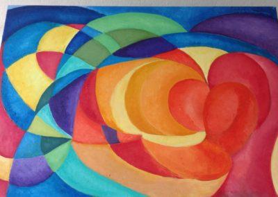 CAVALLI IN CORSA, 50x70 pittura ad olio su tela 2015