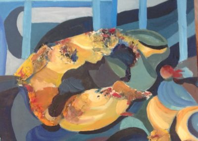CONCHIGLIA, 40x40 tecnica mista pittura ad olio su tavoletta carta ed acrilico 2017
