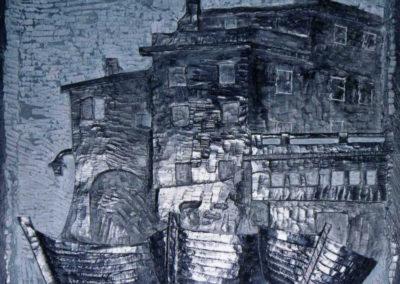 Castello di Bogliasco | Bassorilievo Ardesia 40x40