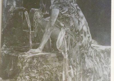 Chiare fresche e dolci acque, incisione su ardesia, cm. 24x18