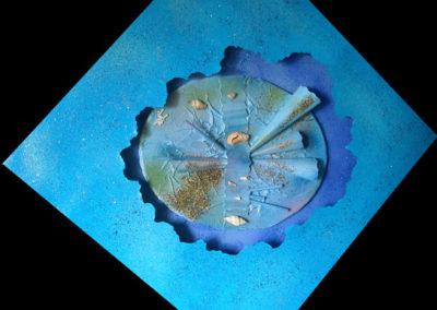 Com'è profondo il mare | 50x50 tecnica mista tridimensionale