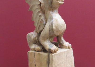 Drago Cinese | Scultura a tutto tondo legno di noce 32X12x10