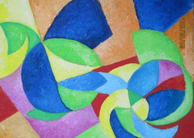 FELICITA', 50x40 pittura ad olio su tavoletta 2016