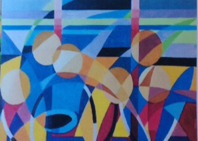 BASKET, 50x70 pittura ad olio su tela 2017