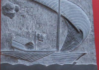 Galea Genovese | Bassorilievo Ardesia 40X40