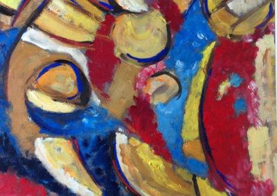 I CUGINI 70x50 pittura ad olio su tela 2016