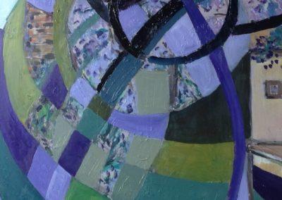 IL GLICINE, 40x50 pittura ad olio su tavoletta 2017