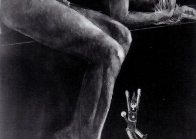 In sogno, incisione su ardesia, cm. 24x18