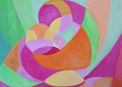 L'ABBRACCIO, 50x40 pittura ad olio su tela 2016