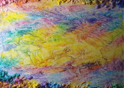 LA SCARPINA BLU | Cera ad encausto e poliuretano su tela 70 x 70