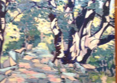 LECCI A PORTOFINO VETTA dipinti all'aperto 40x30 pittura ad olio su tavoletta 2001