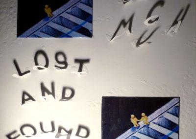 LOST AND FOUND | Tecnica mista- intaglio di carta su tavola e tela 40 x 40