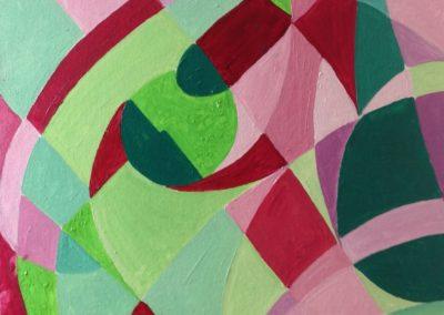 MOVIMENTO 40x40 pittura ad olio su tela 2016
