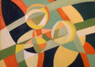NONNA E NIPOTI, 40x50 pittura ad olio su tela 2017
