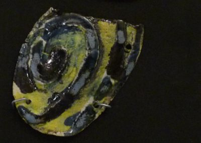 Tre vite | ceramica su legno - 30x 14 - 2015
