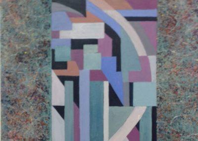 SALITA, 40x40 pittura ad olio su tavoletta 2017