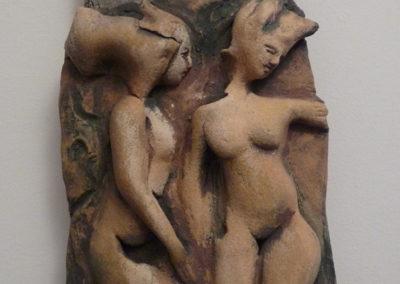 Senza titolo | ceramica su legno 50x20 c.ca 2006