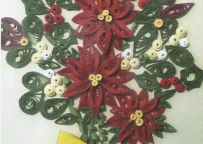 Stella di Natale, quilling art, cm. 30x20