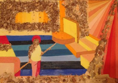 VOLUMI 50x70 pittura ad olio su tela 2017
