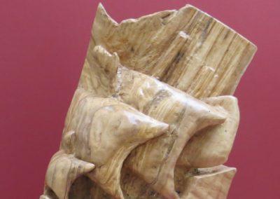 Vascello Fantasma | Scultura a tutto tondo Legno di ulivo 30x25x25