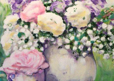 Vaso di lillà 40x30 acrilico su cartone