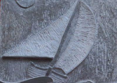 Vela di gran lasco | Bassorilievo Ardesia 40x40