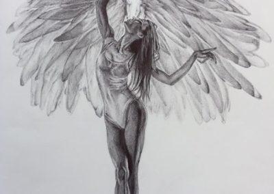 Di puro spirito | Biro su carta cm. 42x30