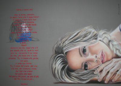 Donna a testa alta | Pastello su carta cm. 50x70