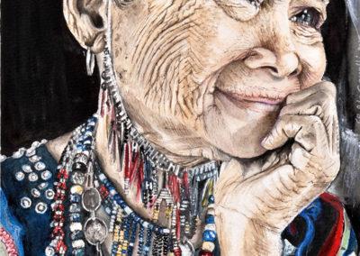 Gli occhi della saggezza | Acquarello su carta cm. 31x22