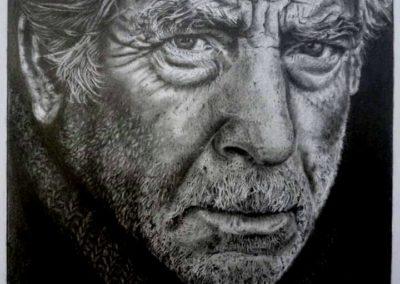 Old man | Grafite su carta cm. 19x19