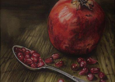 Porte bonheur en grains | Acquarello su carta cm. 45x35