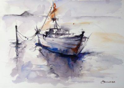 Sailing | Acquarello su carta cm. 30,5x45,5