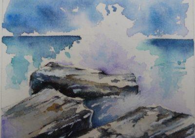 Schizzi di mare | Acquarello su carta cm.15x18