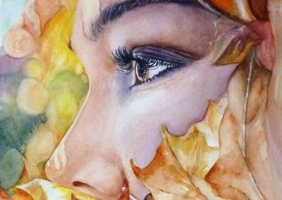 The autumn profile | Acquarello su carta cm. 41,5x28