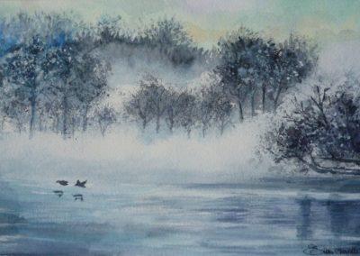 Tranquillità | Acquarello su carta cm. 15,5x26