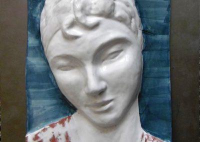 … riflessioni | Creta su acciaio inox cm. 49x33